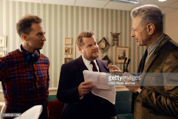 Jeff Goldblum performs in a sketch with James Corden during The Late Late Show with James Corden airing Monday December 3 2018