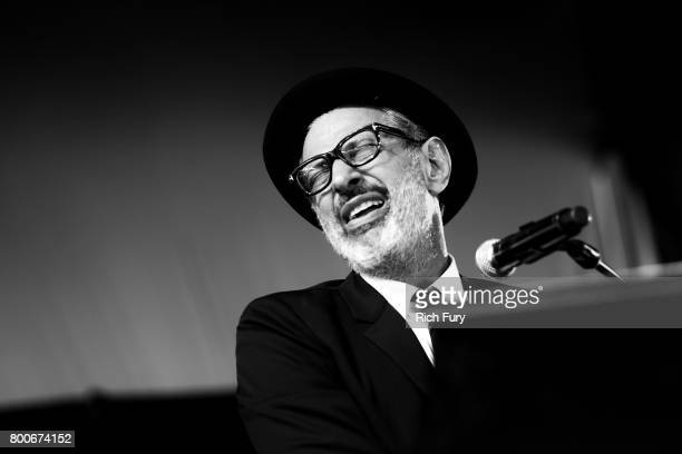 Jeff Goldblum performs on the Willow stage during Arroyo Seco Weekend at the Brookside Golf Course at on June 24 2017 in Pasadena California