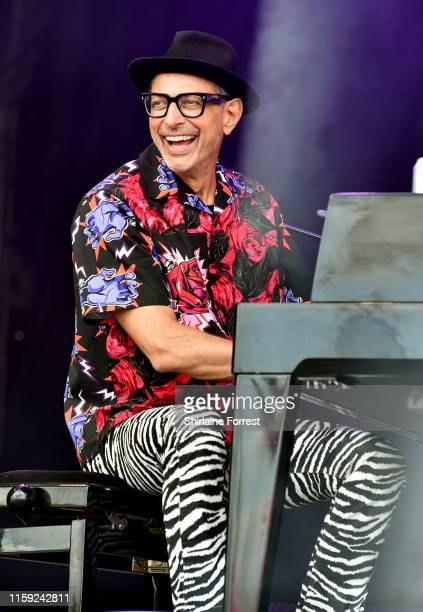 Jeff Goldblum performs on West Holts Stage during day five of Glastonbury Festival at Worthy Farm Pilton on June 30 2019 in Glastonbury England