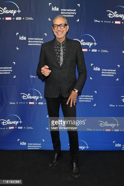 Jeff Goldblum poses as The International Documentary Association showcases Disney+ original nonfiction series at NeueHouse Los Angeles on October 18,...