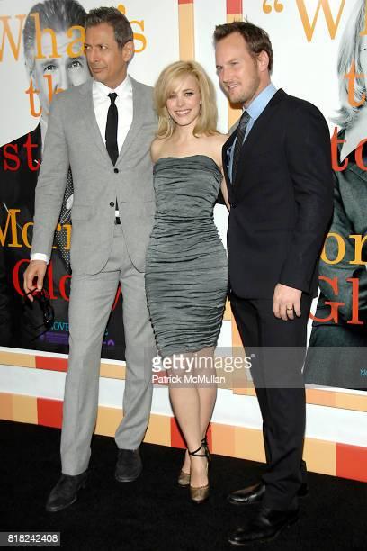 Jeff Goldblum Rachel McAdams and Patrick Wilson attend WORLD PREMIERE of MORNING GLORY at Clearview Cinemas' Ziegfeld on November 7 2010 in New York...