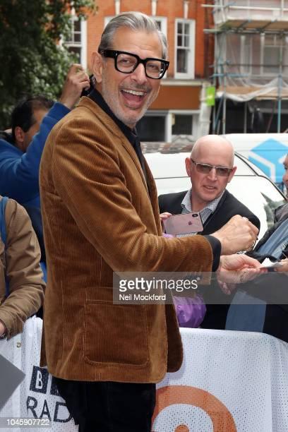 Jeff Goldblum seen at BBC Radio 2 on October 5 2018 in London England