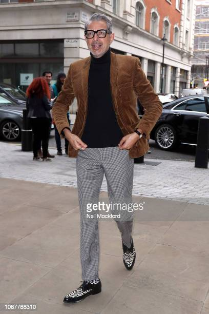 Jeff Goldblum seen at the BBC Radio Studios on November 15, 2018 in London, England.