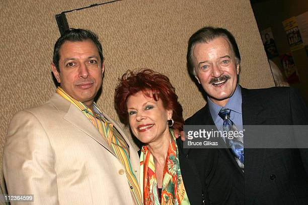 Jeff Goldblum Vera Goulet and Robert Goulet during 71st Annual Drama League Awards at Marriott Marquis Hotel in New York NY United States