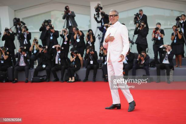 Jeff Goldblum walks the red carpet ahead of the 'The Mountain' screening during the 75th Venice Film Festival at Sala Grande on August 30 2018 in...