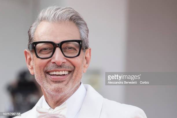 Jeff Goldblum, walks the red carpet ahead of the 'The Mountain' screening during the 75th Venice Film Festival at Sala Grande on August 30, 2018 in...