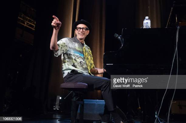 Jeff Goldbulm from Jeff Goldblum The Mildred Snitzer Orchestra performs at Le Trianon on November 15 2018 in Paris France