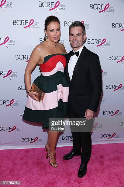 Jeff Gordon and Ingrid Vandebosch attend 2016 Breast Cancer Research Foundation Hot Pink Party at The Waldorf=Astoria on April 12 2016 in New York...