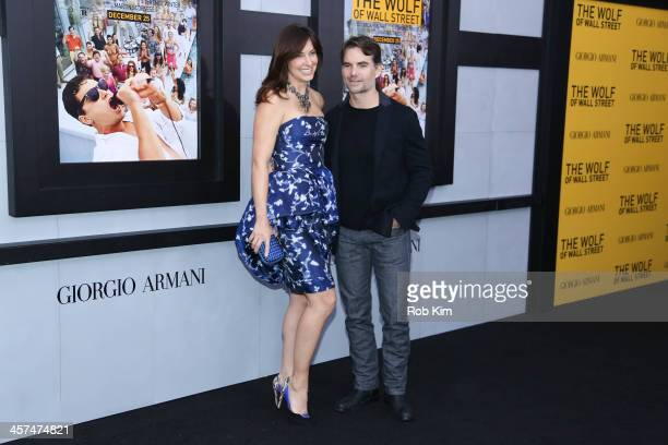 Jeff Gordon and Ingrid Vandebosch attend the The Wolf Of Wall Street premiere at Ziegfeld Theater on December 17 2013 in New York City