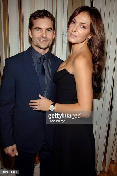 Jeff Gordon and Ingrid Vandebosch during Tag Heuer Party to Celebrate Women and UNIFEM September 12 2006 at The Royalton in New York City New York...