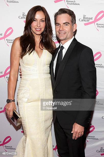 Jeff Gordon and wife Ingrid Vandebosch attend The Breast Cancer Research Foundation 2014 Hot Pink Party at The Waldorf=Astoria on April 28 2014 in...