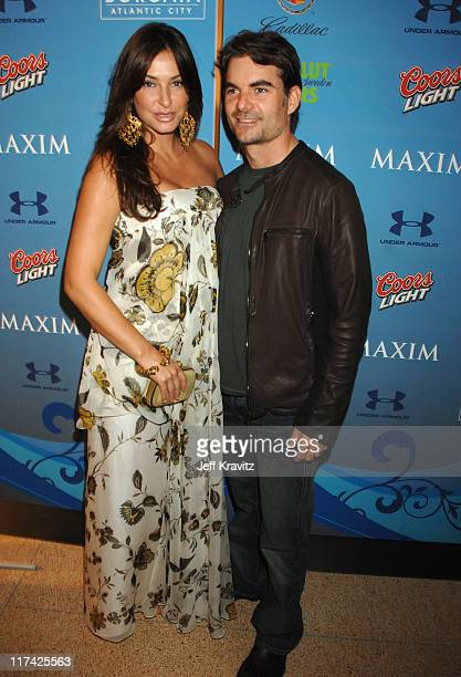 Jeff Gordon and wife Ingrid Vandebosch during Hotel De Maxim Party for Super Bowl XLI Arrivals at Sagamore Hotel in Miami Beach Florida United States