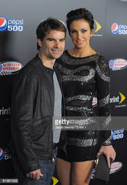 Jeff Gordon arrives at the Auto Club Speedway's Pepsi 500 held at The Roosevelt Hotel on October 7 2009 in Hollywood California