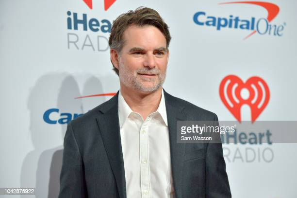 Jeff Gordon arrives at the iHeartRadio Music Festival at TMobile Arena on September 22 2018 in Las Vegas Nevada