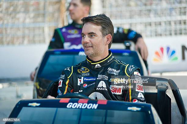 Jeff Gordon attends NBC Sports' Bumper NASCAR Tour at Chase Fest in Downtown Chicago on September 17 2015 in Chicago Illinois