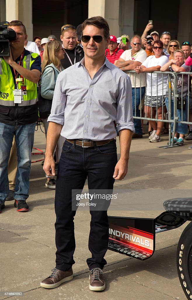 Jeff Gordon attends the 2015 Indy 500 at Indianapolis Motorspeedway on May 24, 2015 in Indianapolis, Indiana.