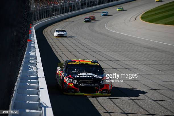 Jeff Gordon driver of the AXALTA Chevrolet races during the NASCAR Sprint Cup Series myAFibRiskcom 400 at Chicagoland Speedway on September 20 2015...