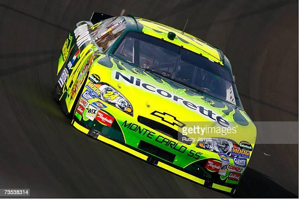 Jeff Gordon driver of the Nicorette Chevrolet drives during practice for the NASCAR Nextel Cup Series UAWDaimlerChrysler 400 at Las Vegas Motor...