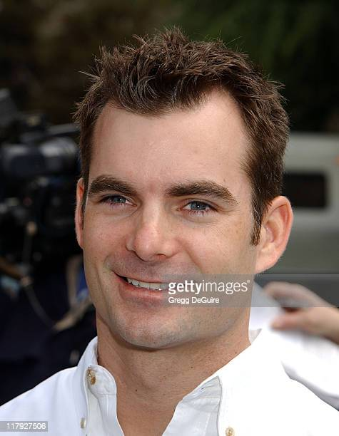 Jeff Gordon during Jeff Gordon and Jenna Elfman Team Up to Unveil a Race Car Pace Car and Spy Car at Warner Bros Studios in Burbank California United...