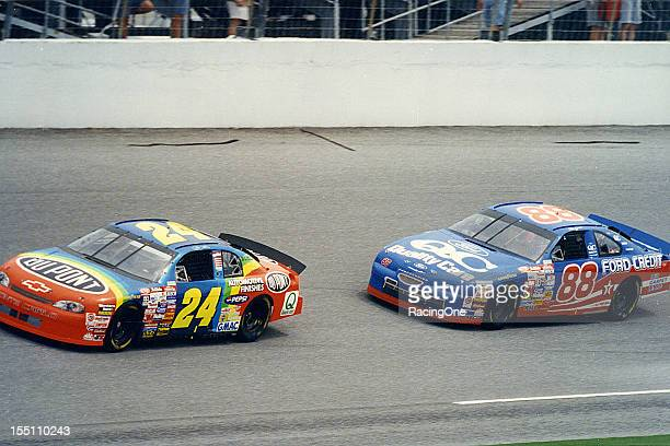 Jeff Gordon leads Dale Jarrett during the running of the Daytona 500 NASCAR Cup race at Daytona International Speedway Together the pair has combined...