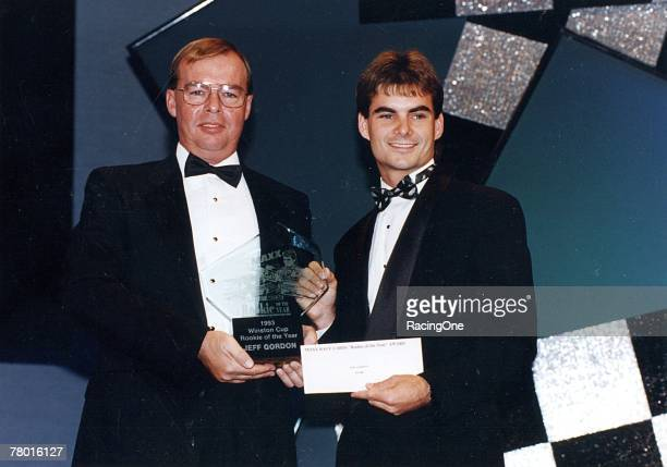Jeff Gordon receives the 1993 Winston Cup Rookie of the Year award