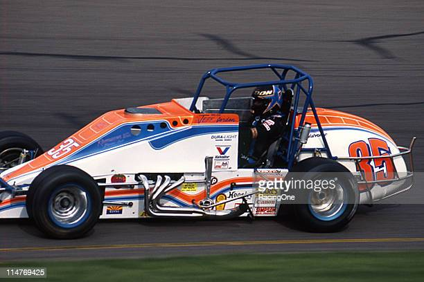 Jeff Gordon wheels his USAC Silver Crown Car during the running of the Copper World Classic at Phoenix International Raceway