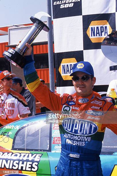 Jeff Gordon won the California 500 Presented by NAPA at California Speedway He led nine times including the final 41 laps