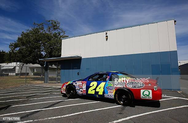 Jeff Gordon's car outside his middle school which is now Vallejo Charter School on June 20 2015 in Vallejo California
