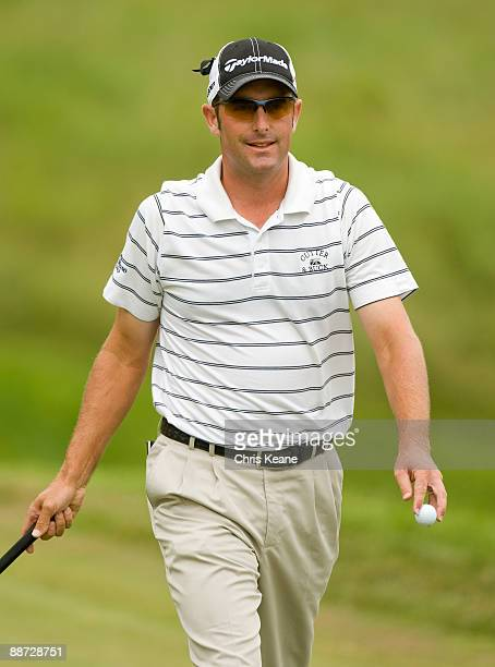 Jeff Gove smiles after making a putt on the fourth hole during the final round of the Nationwide Tour Players Cup at Pete Dye Golf Club on June 28...