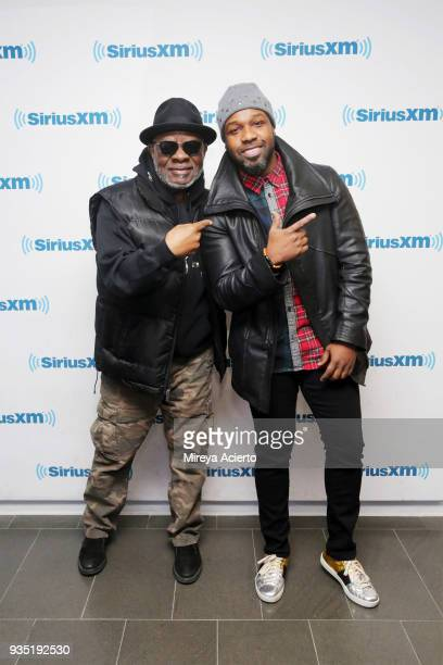 Jeff Grant and gospel singer VaShawn Mitchell visit SiriusXM Studios on March 20 2018 in New York City