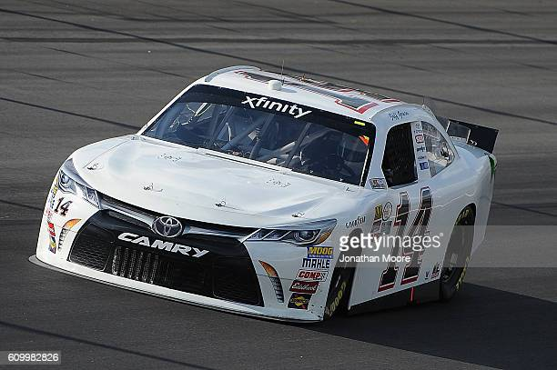 Jeff Green driver of the Toyota on track during practice for the NASCAR XFINITY Series VysitMyrtleBeachcom 300 at Kentucky Speedway on September 23...