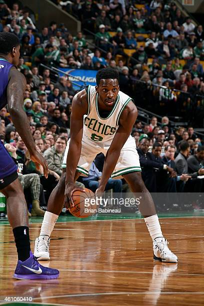 Jeff Green of the Boston Celtics handles the ball against the Charlotte Hornets on January 5 2015 at the TD Garden in Boston Massachusetts NOTE TO...
