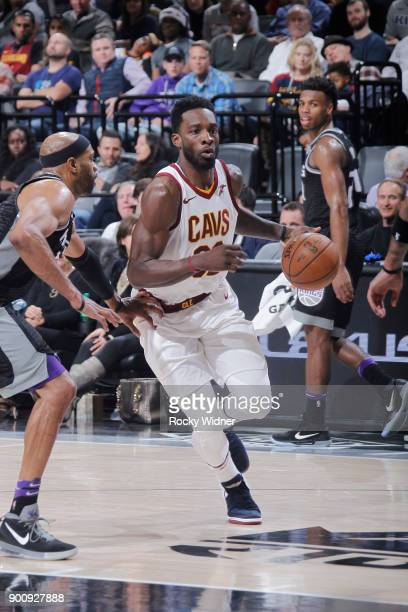 Jeff Green of the Cleveland Cavaliers drives against the Sacramento Kings on December 27 2017 at Golden 1 Center in Sacramento California NOTE TO...