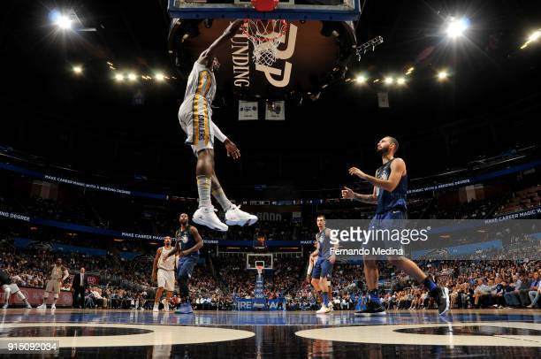 Jeff Green of the Cleveland Cavaliers dunks the ball against the Orlando Magic on February 6 2018 at Amway Center in Orlando Florida NOTE TO USER...
