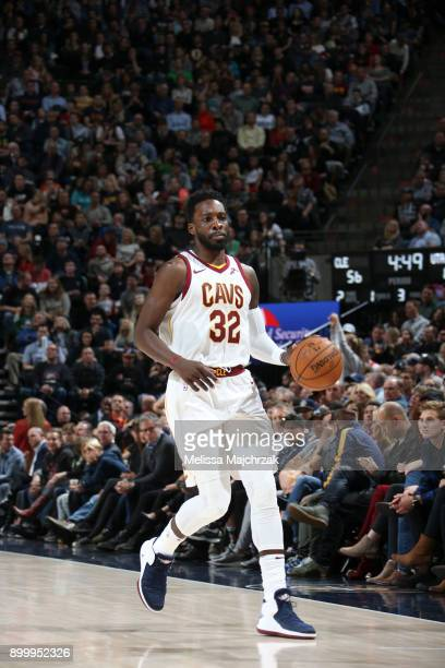 Jeff Green of the Cleveland Cavaliers handles the ball against the Utah Jazz on December 30 2017 at Vivint Smart Home Arena in Salt Lake City Utah...
