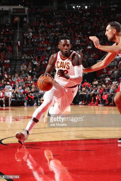 Jeff Green of the Cleveland Cavaliers handles the ball during the game against the Houston Rockets on November 9 2017 at Toyota Center in Houston...