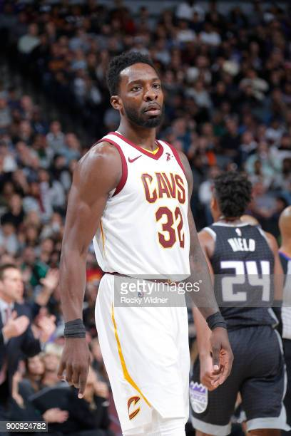 Jeff Green of the Cleveland Cavaliers looks on during the game against the Sacramento Kings on December 27 2017 at Golden 1 Center in Sacramento...