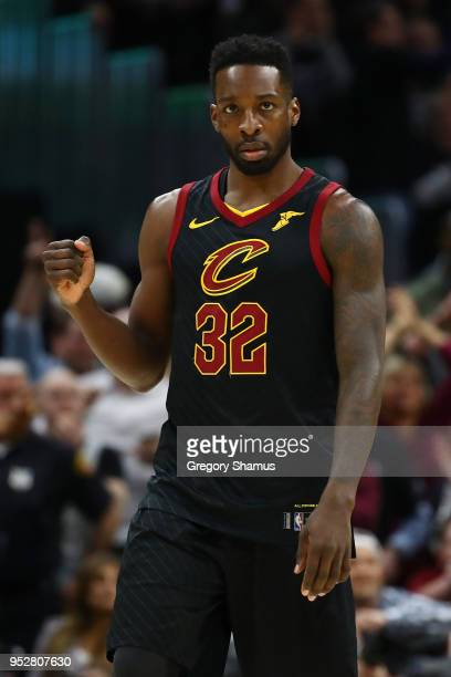 Jeff Green of the Cleveland Cavaliers reacts late in the fourth quarter while playing the Indiana Pacers in Game Seven of the Eastern Conference...