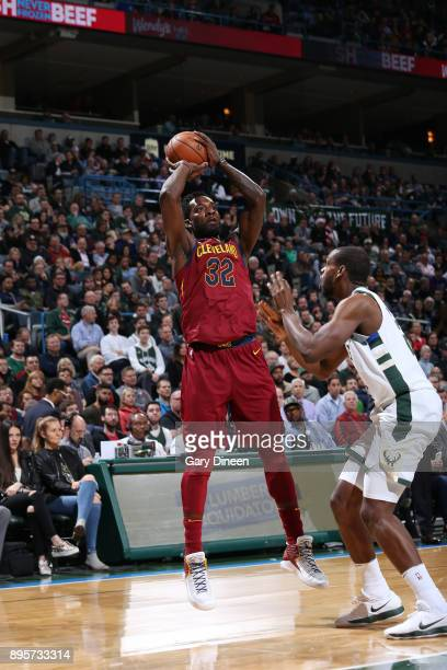 Jeff Green of the Cleveland Cavaliers shoots the ball against the Milwaukee Bucks on December 19 2017 at the BMO Harris Bradley Center in Milwaukee...
