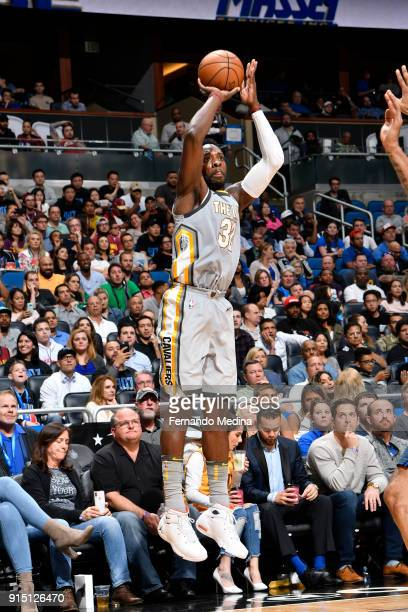 Jeff Green of the Cleveland Cavaliers shoots the ball against the Orlando Magic on February 6 2018 at Amway Center in Orlando Florida NOTE TO USER...