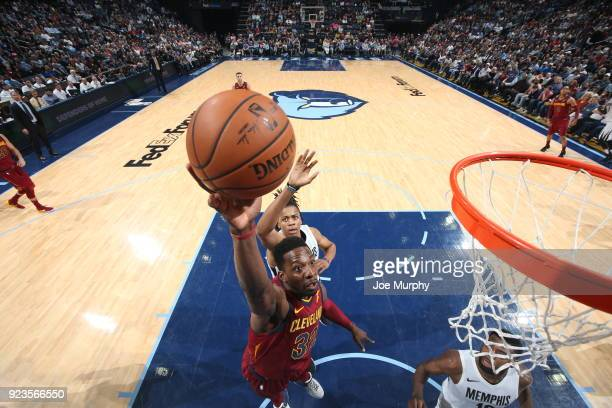 Jeff Green of the Cleveland Cavaliers shoots the ball against the Memphis Grizzlies on February 23 2018 at FedExForum in Memphis Tennessee NOTE TO...