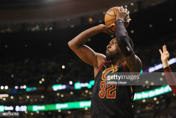 Jeff Green of the Cleveland Cavaliers shoots the ball in the first half against the Boston Celtics during Game Seven of the 2018 NBA Eastern...