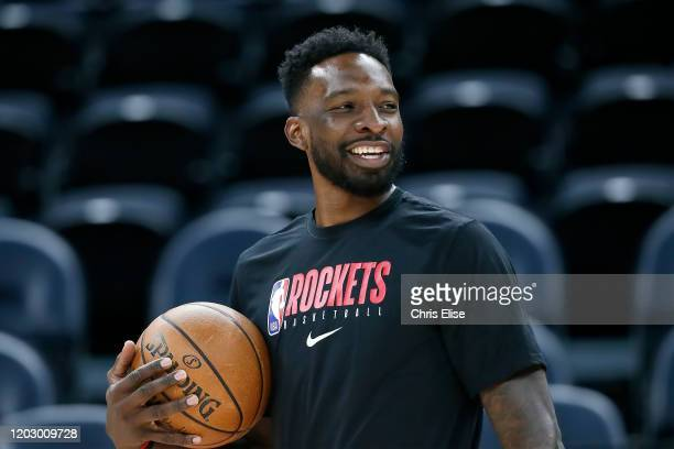 Jeff Green of the Houston Rockets looks on prior to a game at the Vivint Smart Home Arena on February 22 2020 in Salt Lake City UT NOTE TO USER User...