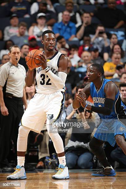 Jeff Green of the Memphis Grizzlies handles the ball against the Orlando Magiclon January 25 2016 in Memphis Tennessee NOTE TO USER User expressly...