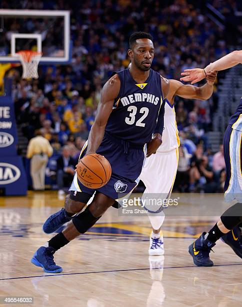 Jeff Green of the Memphis Grizzlies in action against the Golden State Warriors at ORACLE Arena on November 2 2015 in Oakland California NOTE TO USER...
