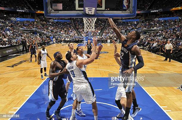 Jeff Green of the Memphis Grizzlies shoots against the Orlando Magic on January 16 2015 at Amway Center in Orlando Florida NOTE TO USER User...