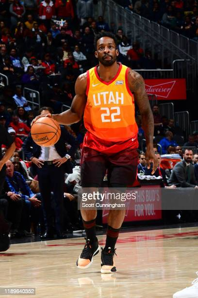 Jeff Green of the Utah Jazz handles the ball against the Atlanta Hawks on December 19 2019 at State Farm Arena in Atlanta Georgia NOTE TO USER User...