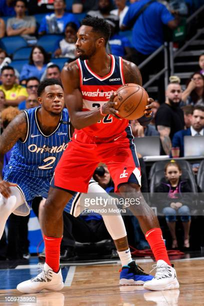 Jeff Green of the Washington Wizards handles the ball against the Orlando Magic on November 9 2018 at Amway Center in Orlando Florida NOTE TO USER...