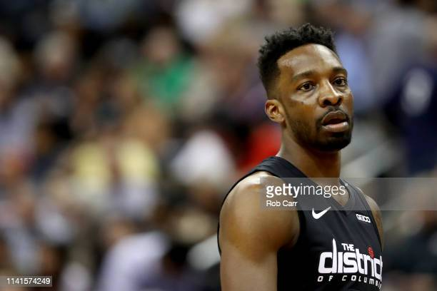 Jeff Green of the Washington Wizards looks on against the Boston Celtics at Capital One Arena on April 09 2019 in Washington DC NOTE TO USER User...