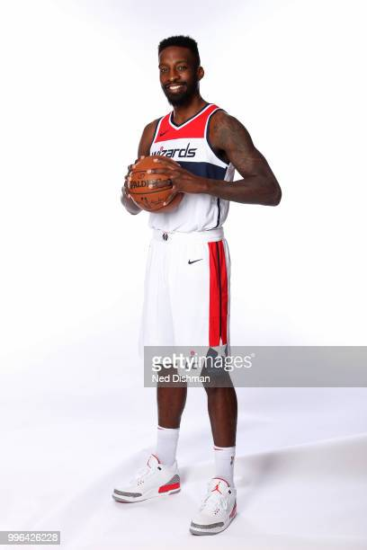 Jeff Green of the Washington Wizards poses for a portrait at Capital One Arena on July 11 2018 in Washington DC NOTE TO USER User expressly...